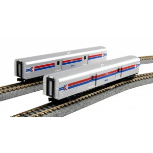 Amtrak Baggage Car phase I 2-car Set 1075 & 1076