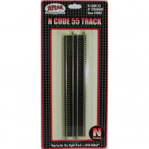 "Code 55 Track w/Nickel-Silver Rail & Brown Ties -  6"" Straight (6 pk)"