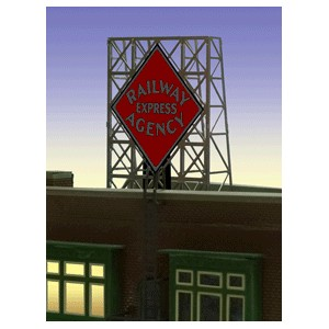 Flashing Billboard - Railway Express Agency