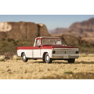 F-100 Pickup Truck - Candy Apple Red/Wimbledon White (2pk)