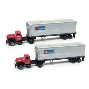 Ford Tractor/AeroVan Trailer - Associated Truck Lines (2pk)