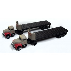 IH R190 Tractor with Flatbed Trailer Set - Breir & Smith Building Materials (2pk)