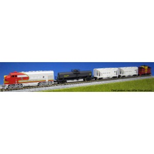 F7 Freight Train Set - Santa Fe (DC,DCC & Sound)