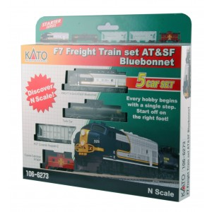 Bluebonnet F7 Diesel Freight Train - Santa Fe (DCC Equipped)