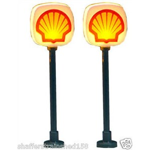 Lighted Gas Station Signs - Shell (2pk)