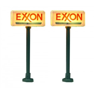 Lighted Gas Station Signs - Exxon (2pk)