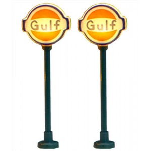 Lighted Gas Station Signs - Gulf (2pk)