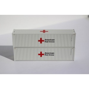 40' High Cube Containers - Red Cross (2pk)