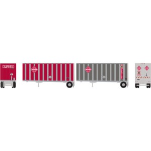 28' Wedge Trailers with Dolly - McLean (2pk)