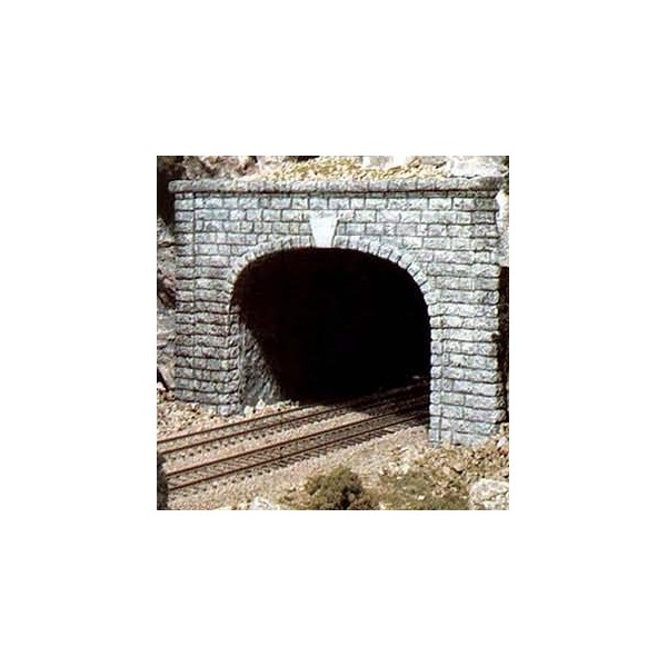 Tunnel Portals Double Track Cut Stone 2 N Scale