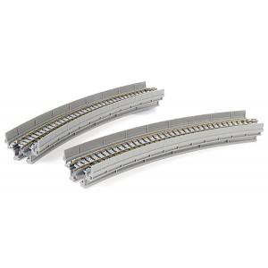 "Unitrack Single Track Curved Viaduct R249-45' (R9 3/4""-45') (2pk"