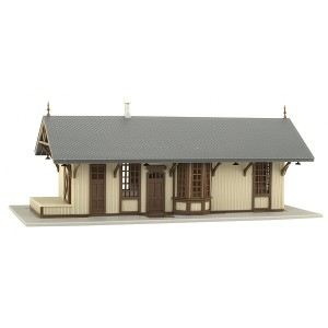 Maywood Station - Tan with Brown Trim