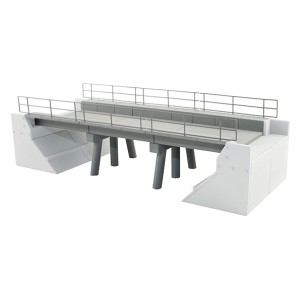 Modern Concrete Bridge - Set B (Expansion Set)