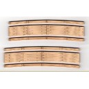 "Wood Grade Crossings - 2 Sets Curved 9.75"" Radius"