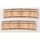"Wood Grade Crossings - 2 Sets Curved 30"" Radius"