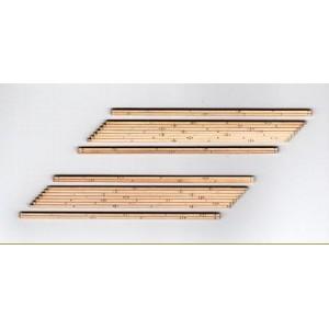 Wood Grade Crossings - 2 Sets Angled Crossings (Right)