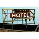 Laser Cut Wood Billboard - Hotel (2 Blocks)