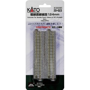 "Unitrack Concrete Tie Double Track Straight 4-7/8"" (124mm)(2pk)"