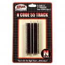 "Code 55 Track w/Nickel-Silver Rail & Brown Ties - 3"" Straight (6pk)"