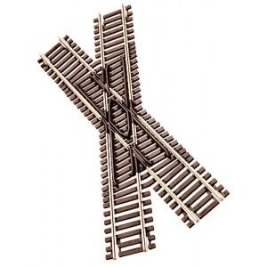 Code 55 Track w/Nickel-Silver Rail & Brown Ties - 30' Crossing