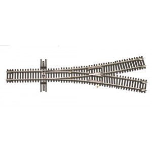 Code 55 Track w/Nickel-Silver Rail & Brown Ties - 2.5 Wye Turnout