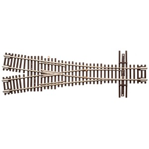 Code 55 Track w/Nickel-Silver Rail & Brown Ties - 3.5 Wye Turnout