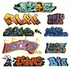 "Mega Set Modern 2 ""Tagger"" Graffiti Decals (9pk)"