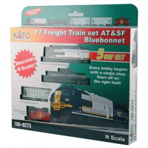 Bluebonnet F7 Diesel Freight Train - Santa Fe
