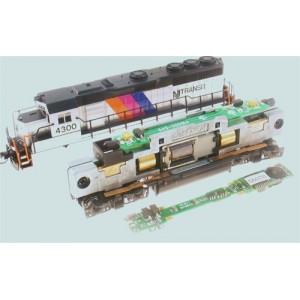 Decoder with Sound, fits Atlas Alco, SD60, SD70, F Units and most short 4 Axle Diesels