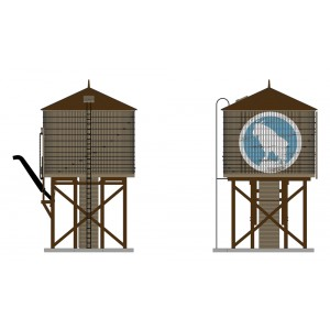 Operating Water Tower w/Sound - Great Northern Weathered Brown