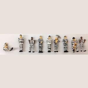 Prisoners (Black & White Stripes)(9pk)