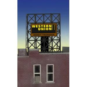 Flashing Billboard - Western Union