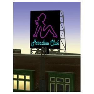 Flashing Billboard - Paradice Club