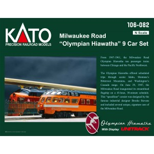 "Milwaukee Road ""Olympian Hiawatha"" 9 Car Set"