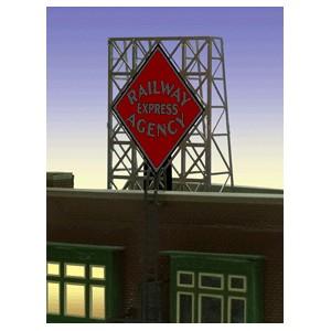 Flashing Billboard - Railway Express Agency