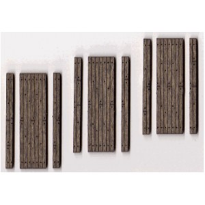 One-Lane Stained Wood Grade Crossing (3pk)