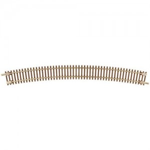 "Code 55 Track w/Nickel-Silver Rail & Brown Ties - 16 1/4"" Radius Full Curve (6pk)"