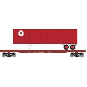 53' GSC TOFC Flat w/40' Ex-Post Trailer - TrailerTrain/Pennsylvania RailRoad 475205