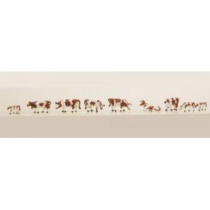 Brown/White Cows and Calves (9pk)