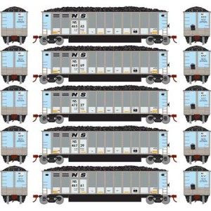 Bethgon Coalporter w/Load - Norfolk Southern 1 (5pk)