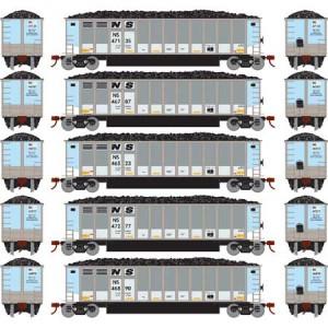 Bethgon Coalporter w/Load - Norfolk Southern 2 (5pk)