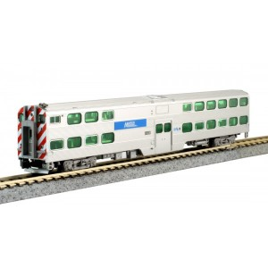 Nippon Sharyo Gallery Bi-Level Cab-Coach - Chicago Metra 8593 w/Lighting