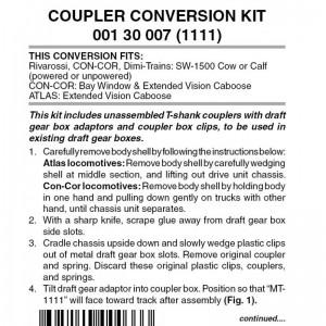(1111) Coupler Conversion Kit - Rivarossi, Con-Cor & Others