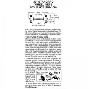 "(401-100) 33"" Standard Wheel Sets (100pk)"