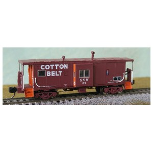 Int Ph 4 Bay Window Caboose - Cotton Belt 76