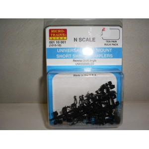 (1015-10) Body Mount Couplers Wide Angle, Short Shank Couplers (10pr)