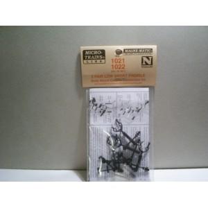 (1021/1022) Low Short Profile Body Mount Coupler Conversion Kit