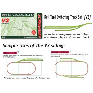 Unitrack V3 Rail Yard Switching Track Set