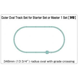 Unitrack V6 Outer Oval Track Set for Starter Set or Master 1 Set