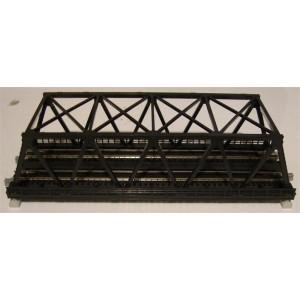 "Unitrack Double Track Truss Bridge - 248mm (9 3/4"") Black"